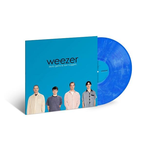 Weezer - Dusty Gems: The B-Sides: Vinilo azul traslúcido y blanco marmolado, por primera vez en vinilo, limitado a 4000 copias, exclusivo para tiendas independientes.
